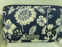 Vera Bradley Midtown Blue Midnight Floral All In One Crossbody Bag Wallet RFID