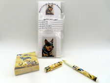 New Australian Cattle Dog Gift Set Magnetic List Pad Pen Magnet Playing Cards