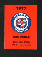 Detroit Tigers--1977 Pocket Schedule--WWJ