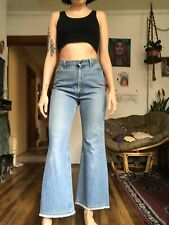 Rare Vintage 1970s 217 Orange Tab Levi's Kick Flare Bell Bottom 26 x 28