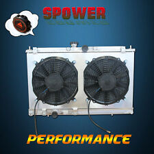 Aluminum Radiator + Fan Shroud For Mitsubishi Lancer CG CH MT Manual 2002-2007