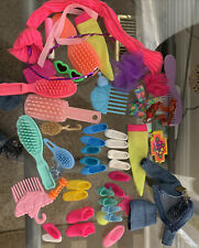 Lot of Barbie accessories - Shoes, Brushes, Outfit, Etc
