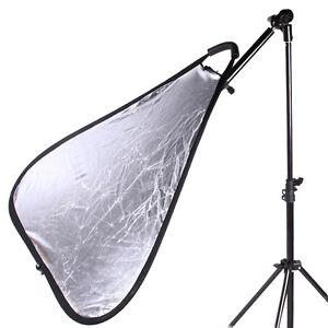 "Studio Photo Holder Bracket Swivel Head Reflector Disc Arm Support Holder 24-47"""