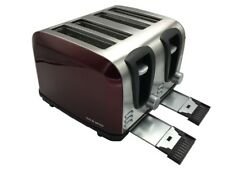 Bos & Sarino 4 Slice Stainless Steel Toaster - Red