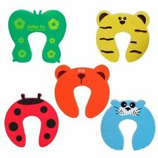 5 X BABY BAMBINO BAMBINI ANIMALI DOOR STOPPER Jammer sicurezza Finger Protector Guard