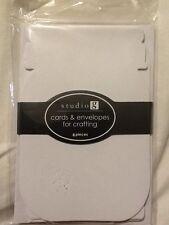 Studio G (8) Cards & Envelopes For Crafting Mason Bell Jar Shaped White BLANK
