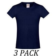 T-shirt bleu manches courtes pour fille de 2 à 16 ans