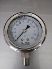 Palmer Liquid Filled 60lb Pressure Gauge