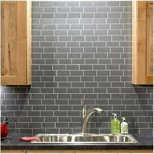 Easy Peel & Stick 3D Subway Vinyl Tile. Perfect For Backsplash or Border.WM-701C
