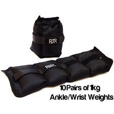 10 paia di 1kg FXR Sports Polso Caviglia Pesi Resistenza Forza Allenamento Palestra