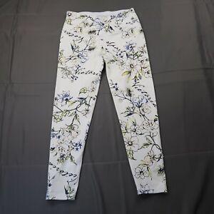 Victoria's Secret SPORT Knockout Leggings Size Medium Short White Floral Print