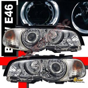 00 01 02 03 BMW E46 325Ci 330Ci 328Ci 2DR Halo Projector Headlights & Corner