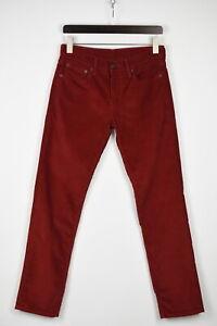 Levi Strauss & Co.511 Homme W29/L32 Slim Rouge Velours Pantalon 41855_GS