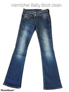 Herrlicher Damen Jeans Babyboot+dark blue used+5645 DD9668+Neuware