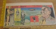 Reno Browne Mickey Rooney Seein' Stars Feg Murray 1940s Sunday color panel 3a