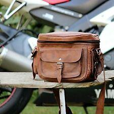 "Handmade11"" Rustic Leather Camera Bag DSLR Camera Satchel Case Travel Camera Bag"