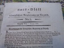 1828 Amtsblatt 2 / Liebau Liegnitz Reichenbach Glogau