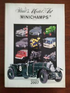 MINICHAMPS CATALOGUE EDITION 1 COLLECTION 2007