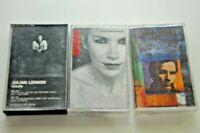 Julian Lennon Annie Lennox Jackson Browne Cassette Tape Lot of 3