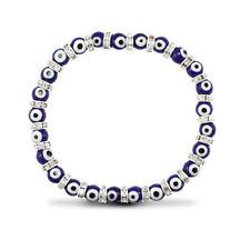 Pulseras de joyería con gemas azul de plata de ley