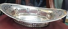 """Superb Adam Style Solid Silver 12"""" Peirced Dish Chester 1914 Stunning Quality."""