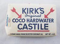 Vintage Kirk's Original Coco Hardwater Castile Bar Soap 4oz