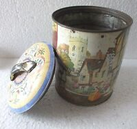Antique Vintage Advertising PARRY'S SWEETS Confectionery Round Tin BoxADV EHS