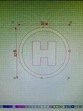 Mini Cooper Helicopter Landing Vinyl Sticker Decal Logo Vehicle Graphics 22x22