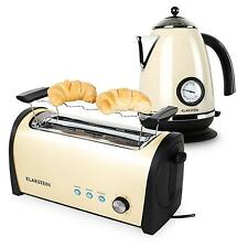 Frühstück Set Wasserkocher Erhitzer 1,7L Doppel Langschlitz Toaster 1000W creme