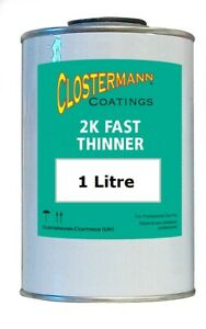 1 Litre 2K Fast Car Paint Thinner for 2K Paints Clear Lacquers Primers Air Dry