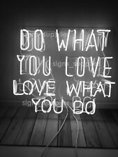 """New White Do What You Love Love What You Do Acrylic Gift Bar Neon Light Sign 24"""""""