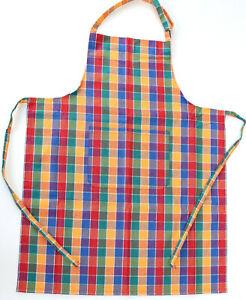Schürze Koch Kracht Latz Grill Küche Tasche Backen Karo mehrfarbig Nackenband
