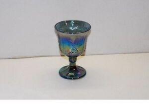 Indiana Glass Harvest Grape Blue Carnival Water Goblet