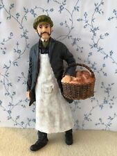 More details for 1:12 scale man baker with basket resin figure old victorian style dolls house