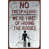 NO Trespassing Tin Sign Bar Pub Cafe Home Wall Decor Metal Art Poster 30x20 NP2Z