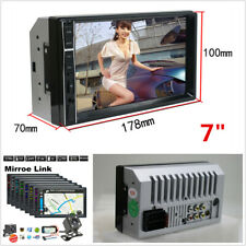 7'' 2 DIN HD Touch Car MP5 Player Stereo Radio Bluetooth Mirror Link with Camera