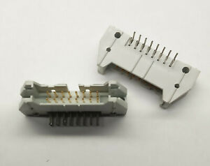 2 PCS. Right angled IDC box header male 16 pole 2.54mm