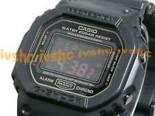 CASIO G-Shock DW5600MS-1 DW-5600MS-1 ALL BLACK RED EYE Free Ship !