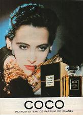Publicité Advertising 1986  Parfum COCO et Eau de Parfum de CHANEL