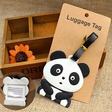 New Cute Panda Bear Luggage Tag Label Suitcase Bag ID Tag Name Address Tag L4