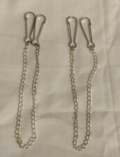 2 x Lanyard Clips and Chain Hooks, Hammocks, Cage Toys, Rats, Hamster, Mice