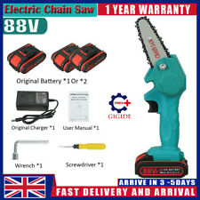 More details for 1200w 88v electric cordless chainsaw one-hand chain saw woodworking cutter tool