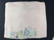 Just Born Baby Girl Pink Butterflies Flowers Blanket