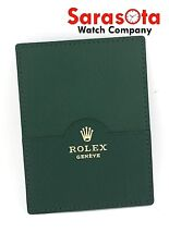 Genuine Rolex 0101.40.34 Green Leather Card Holder Calendar Instruction Booklet