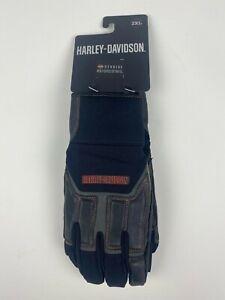 Harley Davidson 2XL Men's Vanocker Under Cuff Gauntlet Gloves 98118-20VM/022L