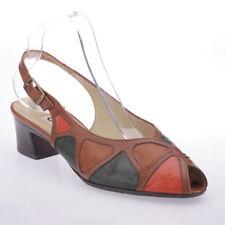 Gabor Slingbacks Block 100% Leather Upper Heels for Women