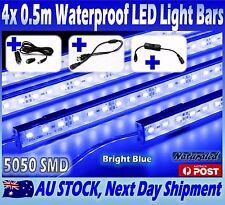 4X12V Waterproof BLUE 5050 Led Strip Lights Bars Camping Caravan Boat Cig