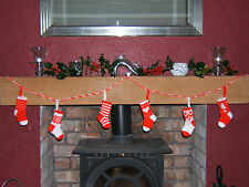 Christmas Stockings Bunting Garland Christmas Tree Decorations Knitting Pattern