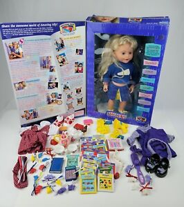 Vintage 1999 Playmates Amazing Ally toy w/ Box Tons Accessories Tested & Working