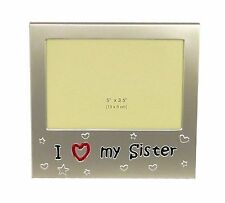 I Love My Sister ' - Expressions Photo Picture Frame Gift - 5 x... Free Shipping